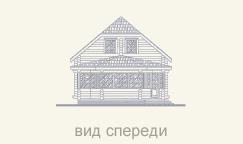 передний вид деревянного дома