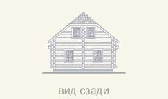 задний вид деревянного дома