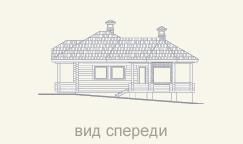 фасад дома из сруба
