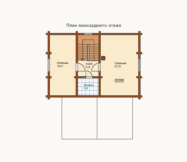 Дизайн дома в два этажа с мансардой