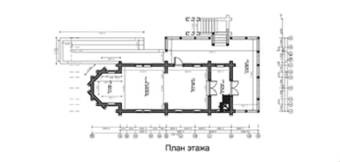 проект бревенчатой церкви