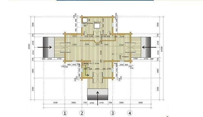 план храма из сруба