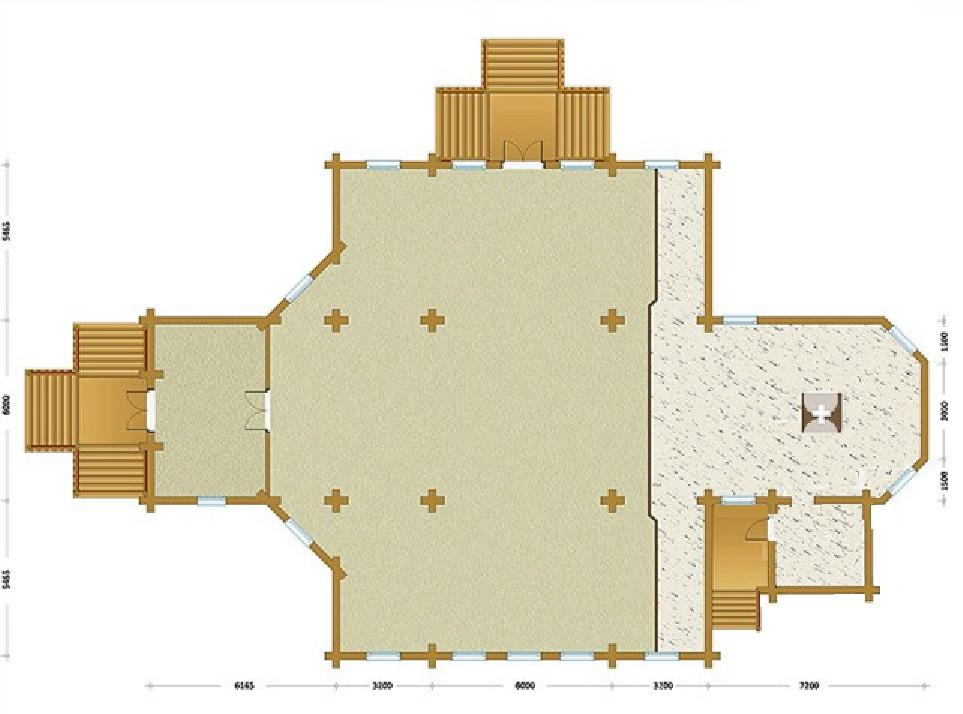 проект бревенчатого храма