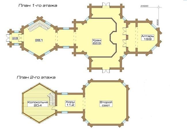 проект срубной церкви