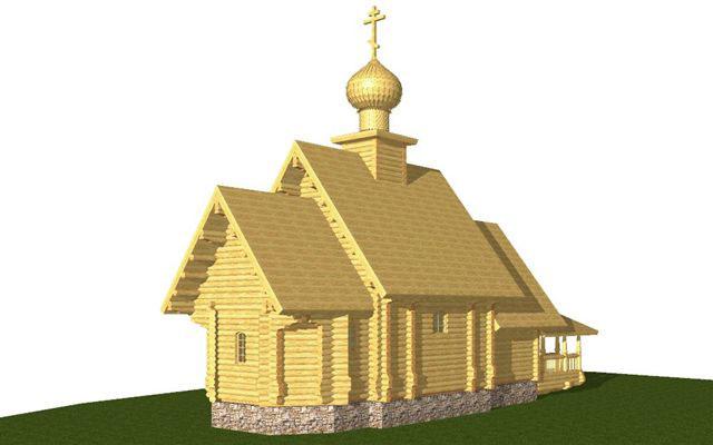 церковь из бревна